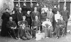 Hinchingbrooke Domestic staff, 1906. social ranking of servants is shown by sitting and standing positions.