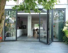 Porch Extension, House Extension Plans, Outside Tiles, Interior Exterior, Interior Design, Patio Flooring, House Extensions, Skylight, Facade