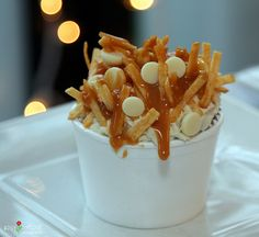 poutine cupcakes. maybe for canada day :) Hahaha, such a good idea, try it @Cailey Hart!