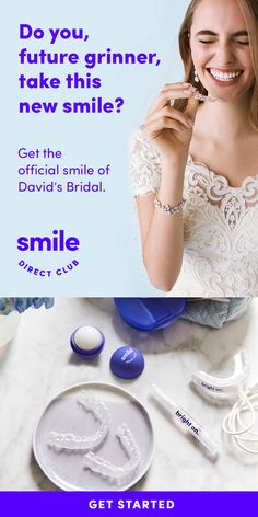 Get the Official Smile of Davids Bridal by the time you walk down the aisle. Take the free quiz to see if you're a candidate for invisible aligners. Bridal Hair Updo Elegant, Bridal Hair Updo Loose, Bridal Ponytail, Bridesmaid Hair Updo, Wedding Hairstyles For Long Hair, Bride Hairstyles, Short Hair, Long Hair Wedding Styles, Long Hair Styles