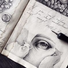 Through her whimsical and eclectic sketchbook art, artist Elena Limkina showcases her eye for detail and the endless possibilities of ink drawing. Sketchbook Drawings, Artist Sketchbook, Sketches, Super Easy Drawings, Cute Drawings, Ink Illustrations, Illustration Art, Moleskine, Artist Journal