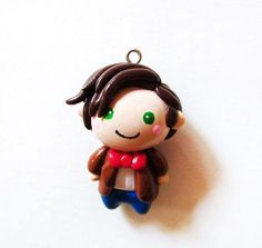 Doctor Who 11th Doctor Chibi Charm Necklace by MadAristocrat on we heart it / visual bookmark #16954844 (chibi charm,doctor who,eleventh)