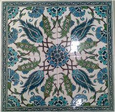 Turkish Tiles, Turkish Art, Islamic Tiles, Islamic Art, Tile Patterns, Pattern Art, Architecture Unique, Decopage, Ceramic Figures