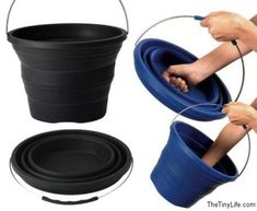 Collapsible bucket.  Hell, yeah!