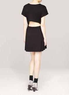 Theyskens' Theory - Cashu cut-out back jersey dress | Black Casual Dresses | Womenswear | Lane Crawford - Shop Designer Brands Online
