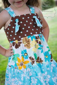 Girls Knot Dress Pattern PDF ebook tiered jumper by sadiejames, $5.00