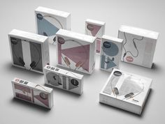 Packaging for AIAIAI's 'Pipe' & 'Tracks' headphones designed by Muggie Ramadani Design Studio