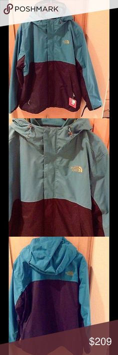 NEW The North Face Men's Bergen Triclimate Jacket Brand new Men's Bergen Peak Triclimate Jacket in Enamel blue color in XL , with removable inner jacket. No trade.  Price is firm. North Face Jackets & Coats