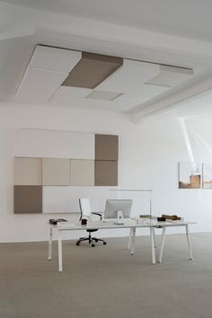 Acoustic ceiling clouds CUBE By Carpet Concept design Carsten Gollnick False Ceiling Living Room, Bedroom False Ceiling Design, Acoustic Wall Panels, Acoustic Design, Modern Office Design, Beautiful Living Rooms, Lounge, Office Interiors, Art Deco