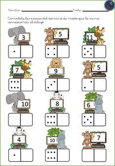 # first class lessons Kindergarten Math Worksheets, Preschool Learning Activities, Teaching Math, Preschool Activities, Kids Learning, Numbers Preschool, First Grade Math, Math For Kids, Math Games