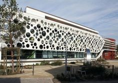 Plescop City Hall: Ductal® Perforated Panels