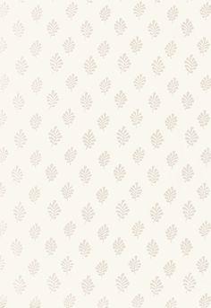 Wallcovering / Wallpaper | Bakara Leaf in Oyster | Schumacher