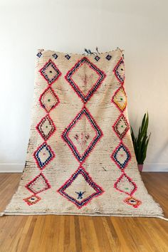 Vintage berber carpet. Authentic Moroccan work of art from the azilal or boucherite tribes. GORGEOUS.
