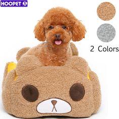 Hoopet urso bonito do animal de estimação cama do cão com almofada removível, à prova d' água de fundo mais animal de estimação adorável casa de presente