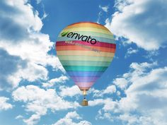 Air Baloon Mock-up by Constantine Xilo, via Behance