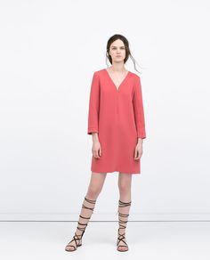coral pink dress | ZARA summer 2015 #springtype #lentetype