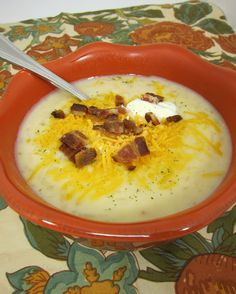 Slow Cooker Potato Soup made with frozen hash browns. No peeling!  I am in love with this!