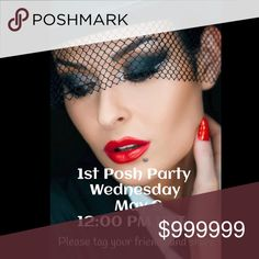 Party on 5/9/2018 @ 12:00pm PST I'm so very excited to announce that I will be co-hosting my 1st Posh Party. Please like and share this post, and I'll gladly be checking your closet for potential HP's.  Please tag your PFF's ~ I'll happily be checking posh compliant closets.  Happy Poshing 🛍 see you there. I must find 100 Host Picks. Here's how to get my attention: Like and Share this post Share my closet, I'll always try and share back If you never had a host pink, lmk below Tag/direct…