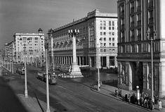 Warszawa, 1954. MDM ? plac Konstytucji, ulica Marszałkowska