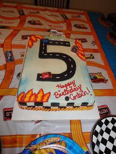 Hot Wheels cake created by Beth