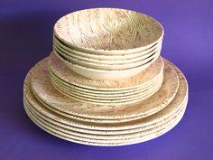 Crown Lynn Driftwood Dinnerware Set - Mid Century Wood Grain Pattern Bowls Plates Dining - Made in New Zealand Pat. 391 by FunkyKoala on Etsy Side Plates, Brown Wood, Dinner Plates, Driftwood, Wood Grain, New Zealand, Dinnerware, Bowls, Mid Century