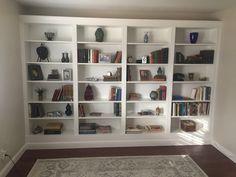 ikea billy hack #billybookcase #ikea #ikeahack Living Room Built Ins, Bookshelves In Living Room, Bookshelves Kids, Wall Bookshelves, Built In Bookcase, Book Shelves, Billy Hack, Billy Ikea, Ikea Shelving Unit