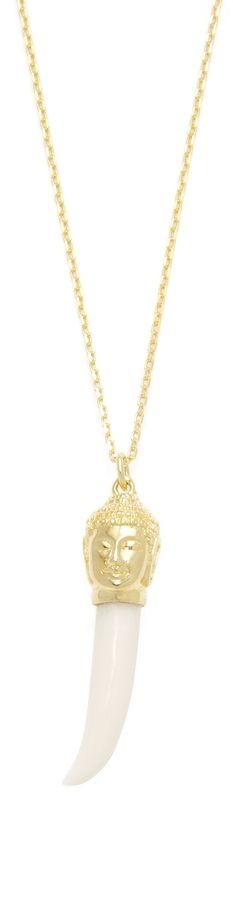 Good Charma Women's Buddha & Tooth Pendant Necklace