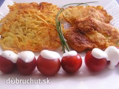 Fotorecept: Kuracie rezne v cestíčku a zemiakové rosty Russian Recipes, Baked Potato, Potatoes, Meat, Chicken, Baking, Breakfast, Ethnic Recipes, Polish