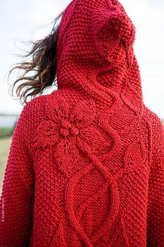 Crochet Red Cardigan Free Pattern - she Crochet Bolero, Crochet Coat, Crochet Cardigan Pattern, Knitted Coat, Vest Pattern, Crochet Clothes, Crochet Lace, Free Pattern, Knitting Patterns