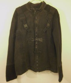 VTG Tripp NYC black zip up jacket , Gothic, clips , 2 XL,Denim ,Halloween #Trippnyc #Goth