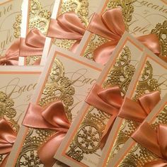 . Quince Invitations, Lace Invitations, Sweet 16 Invitations, Invites, Quinceanera Planning, Quinceanera Decorations, Quinceanera Party, Quince Decorations, Coral And Gold