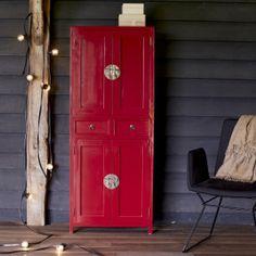 Tikamoon : Yuki red Mahogany Wardrobe 150 Dimension : W 60 x D 35 x H 150 cm Pine Wardrobe, Buy Wardrobe, 4 Door Wardrobe, Double Wardrobe, Cupboard Wardrobe, Mirrored Wardrobe, Linen Cupboard, Bedroom Wardrobe, Armoire En Pin