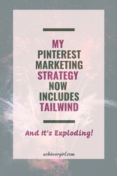 To succeed on pinterest in growing your online business, you need an effective marketing strategy. Find out how my pinterest marketing strategy has been working and exploding since I added Tailwind to it. #achievergirl #pinterestmarketing #tailwind #tailwindstrategy #tailwindpinterestmarketing #tailwindtribes #marketingstrategy #pinteresttips #pintereststrategy #socialmediamarketing #makemoney #onlinebusiness Effective Marketing Strategies, My Pinterest, Blog Names, Pinterest For Business, Blogging For Beginners, Pinterest Marketing, Social Media Marketing, Marketing Ideas, Facebook Sign Up