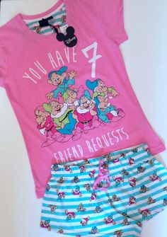 Primark Ladies Disney 7 DWARFS Pyjama Set | this is just tooo cute!