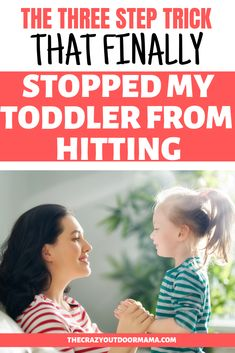 3 Easy Steps to Deal with a Toddler That Hits (Without Hitting Back or Timeout!) – The Crazy Outdoor Mama - Does it seem like your toddler just has fun hitting, or perhaps only hits mom or his parents? Parenting Classes, Parenting Toddlers, Parenting Books, Gentle Parenting, Parenting Humor, Parenting Advice, Parenting Styles, Disciplining Toddlers, Peaceful Parenting