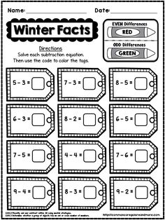 This is a **FREE** SAMPLE PAGE taken from my 2nd Grade Winter NO PREP Math Pack. Enjoy!