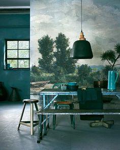 moody decor in various shade of green / sfgirlbybay