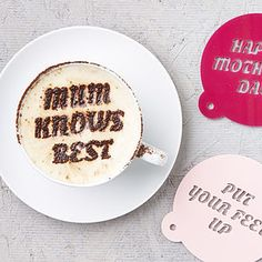 Personalized Mother's Day Coffee Stencil