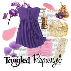 Rapunzel, created by disney-bound on Polyvore
