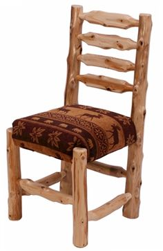 U0027Timberlineu0027 Upholstered Log Dining Chair Rustic Log Furniture, Furniture  Ideas, Cedar Log