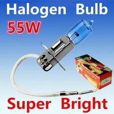 2 개 H3 55 와트 12 볼트 슈퍼 밝은 화이트 안개 할로겐 전구 높은 전원 자동차 헤드 램프 자동차 광원 주차 6000 천개 자동
