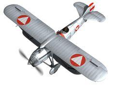 fiat cr 32 - austrian air force - jagdgeschwader ii 3d model obj fbx c4d lwo lw lws 3