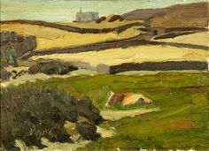 The Meadow : Nikolaos Lytras : Expressionism : landscape - Oil Painting Reproductions Greek Paintings, Greek Art, Art Database, Oil Painting Reproductions, Installation Art, Great Artists, New Art, Landscapes, Greek Islands