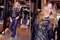 Ohlaleando: mirá lo que se puso Agustina Córdova  Con un estilo glam rock, la modelo Stephanie Demner pasó a conocer la nueva colección de Koxis. Su looks, campera con tachas, remera con brillo, jean y zapatillas.  /Muchnik.co