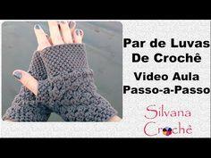 Par De Luvas De Crochê Passo-a-Passo - YouTube Crochet Shrug Pattern, Granny Square Crochet Pattern, Mittens Pattern, Crochet Stitches, Crochet Patterns, Crochet Socks, Crochet Gloves, Crochet Art, Crochet Beanie