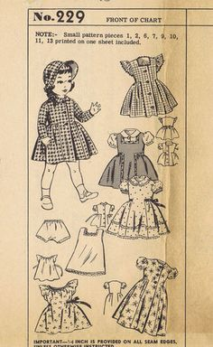 "18"" Vintage Year 1941 Chubby Doll Pattern 229"