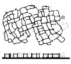 plan and section: village of seripe, ghana