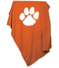 NCAA Clemson Tigers Sweatshirt Blanket: Large heavyweight blanket made of polyester. Measures x Offered in team colors with a tackle twill logo in the middle. Extra soft like your favorite sweatshirt. Tiger Blanket, Clemson Tigers, Unisex, Sweatshirts, Shopping, Clothes, Orange, Kleding