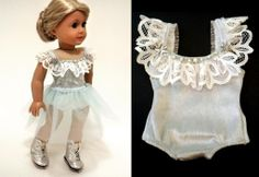 Prima Dance Sewing Pattern by DollhouseDesigns,  Create your own Mix & Match Ballet, Gymnastic, Jazz, Ice Skating or other Performance outfits for American Girl Dolls. 5 Pieces with lots of options for your own unique look :) Prima Dance Sewing Pattern for AG dolls