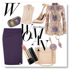 Purple Dreams by amdavis1218 on Polyvore featuring MaxMara, Etro, Alberta Ferretti, Tom Ford, Tory Burch, Bottega Veneta, Amour, Lancôme and Sarah Jessica Parker
